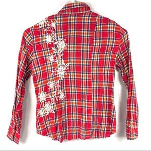 Rock&Roll Cowgirl Embroidered Pearl Snap Shirt XXL